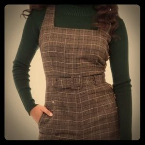 Collectif NWT Gertrude 40's Overalls without belt